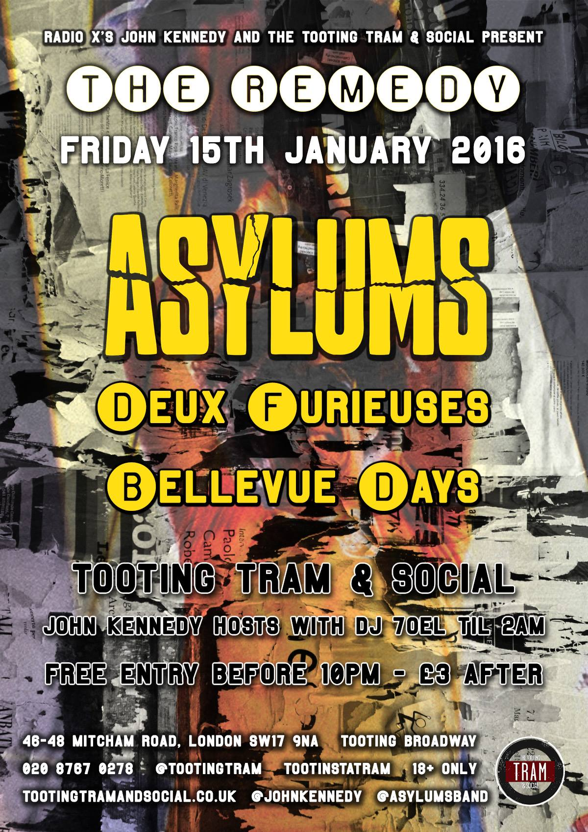 asylums bellevue days gig