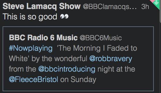 bbc 6 music steve lamacq tweet